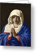 The Virgin In Prayer Greeting Card