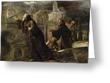 The Vision Of St Francis Of Paola Greeting Card