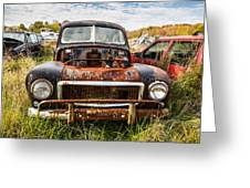 The Volvo Junkyard Greeting Card