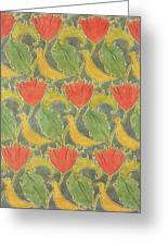 The Voysey Birds Greeting Card