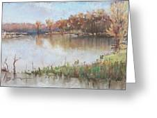 The Wabash-out Of Its Banks Greeting Card