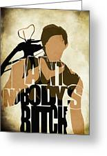 The walking dead inspired daryl dixon typographic artwork painting the walking dead inspired daryl dixon typographic artwork greeting card m4hsunfo