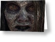 The Walking Dead Names Zombie Mosaic Greeting Card