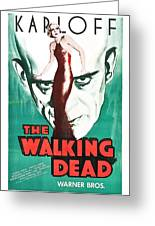 The Walking Dead Poster Greeting Card
