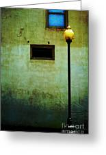 The Wall And The Lamppost Greeting Card