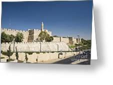 The Walls Of Jerusalem Old Town Israel Greeting Card