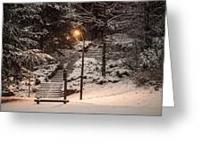 The Warmth In The Snow Greeting Card