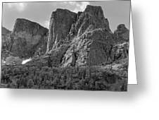 209619-bw-the Watchtower, Wind Rivers Greeting Card