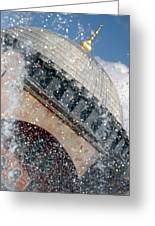 The Water Droplets From The Fountain At The Hagia Sophia Turkey Greeting Card