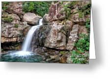 The Water Falls Greeting Card by Shannon Rogers