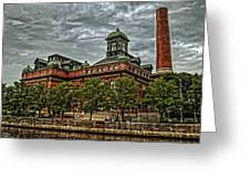 The Water Works Greeting Card by Wayne Gill
