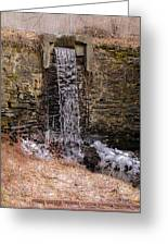 The Waterfall At Hagy's Mill Greeting Card