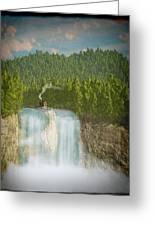 The Waterfall... Greeting Card