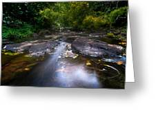 The Waters Of The Eureka Waterfalls. Mauritius Greeting Card