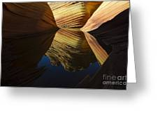 The Wave Reflected Beauty 3 Greeting Card