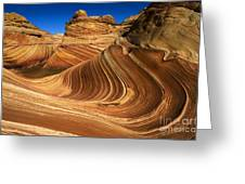 The Wave Wonder In Stone Greeting Card