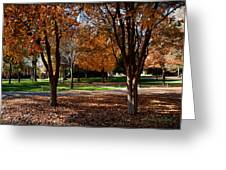 The Well In The Distance-davidson College Greeting Card