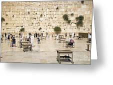 The Western Wall In Jerusalem Israel Greeting Card