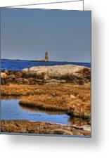 The Whaleback Lighthouse Greeting Card