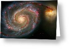 The Whirlpool Galaxy M51 And Companion Greeting Card by Don Hammond
