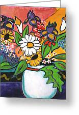 The White Daisy Greeting Card