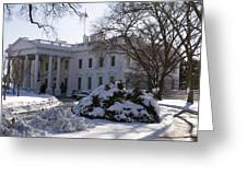 The White House In Winter Greeting Card