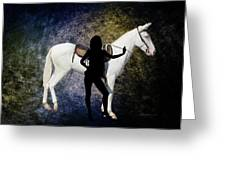 The White Mule Greeting Card