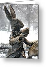 The White Rabbit  Greeting Card by JC Findley
