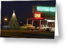 The Wigwam Motel On Route 66 Panoramic Greeting Card