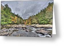 The Wild River Oil Painting Greeting Card