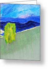 The Willow On The Hill #2 Greeting Card