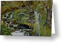The Willow Woman Washing Her Hair Greeting Card