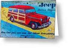 The Willys - Overland Jeep Station Wagon Greeting Card