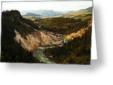 The Winding Yellowstone Greeting Card