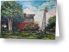 The Windmill Of The Garden Greeting Card by Kendra Sorum