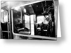 The Window Of Old Train Greeting Card