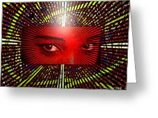 The Window To My Soul Greeting Card by Lewanda Laboy
