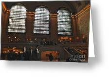The Windows At Grand Central Terminal Greeting Card