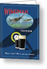 The Wingman Tavern Greeting Card