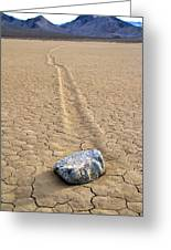 The Winner Death Valley Moving Rock Greeting Card