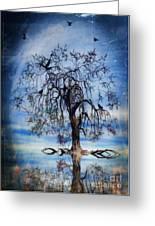 The Wishing Tree Greeting Card by John Edwards