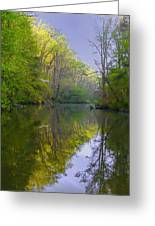The Wissahickon Creek In The Morning Greeting Card