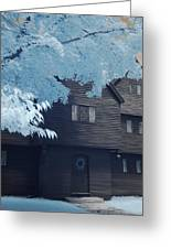 The Witch House In Infrared Greeting Card