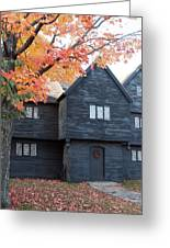 The Witch House Of Salem Greeting Card