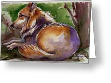 The Wolf Star Greeting Card