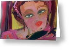 The Woman Who Whistled At The Opera Greeting Card by Judith Desrosiers