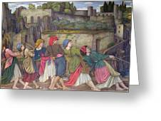 The Women Of Sorrento Greeting Card by John Roddam Spencer Stanhope