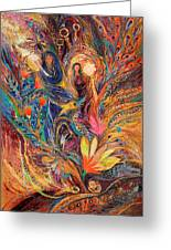 The Women Of Tanakh - Miriam With Timbrels Greeting Card by Elena Kotliarker