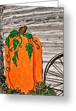The Wooden Pumpkin Greeting Card