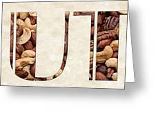 The Word Is Nuts Greeting Card